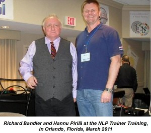 Richard Bandler & Hannu Pirila March 2011 with text
